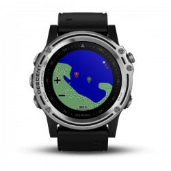 Garmin Descent Mk1 -  Black Rubber Strap